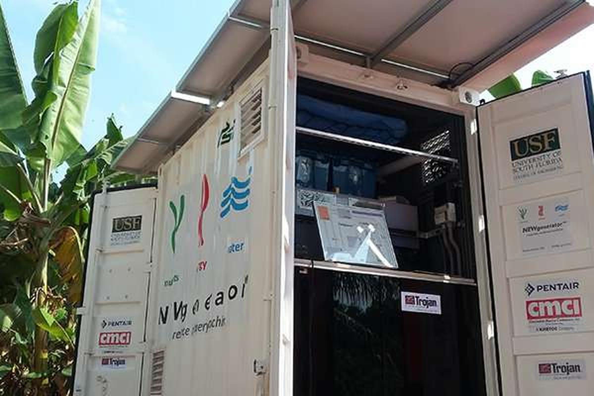 Designed for use in developing countries, the NEWgenerator can recover energy, clean water and fertilizer from wastewater