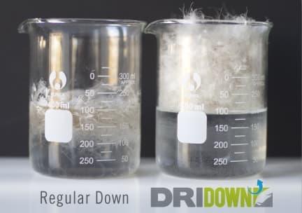 Sierra Designs' DriDown actually floats on water