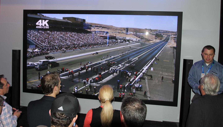 The record-breaking 152-inch Panasonic Full HD 3D Plasma Display Panel