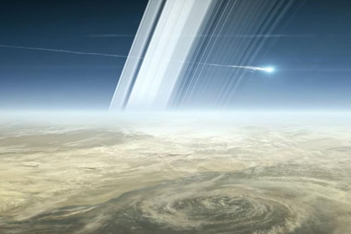 The fiery end of the Cassini mission was one of the space highlights of 2017