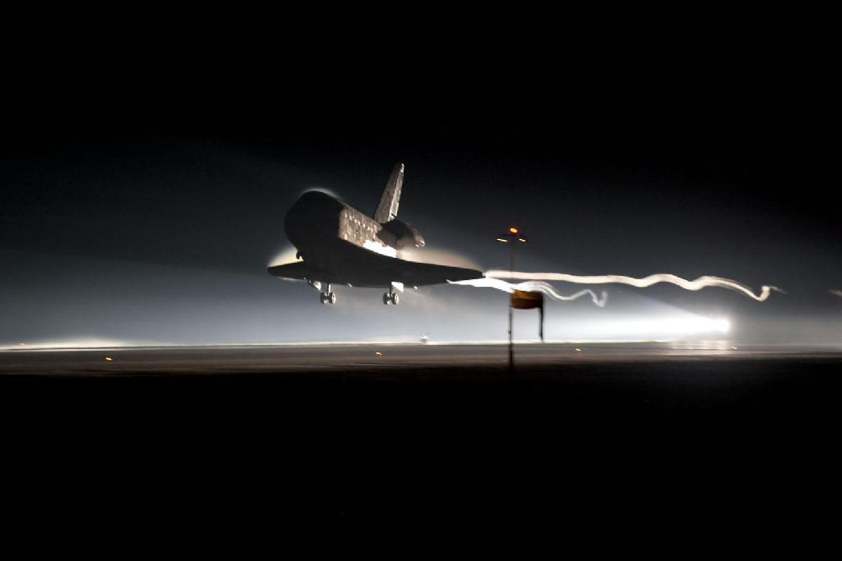 At 5:57 a.m. EDT on July 21, 2011, space shuttle Atlantis landed for the final time at NASA's Kennedy Space Center (Photo credit: NASA/Kim Shiflett)