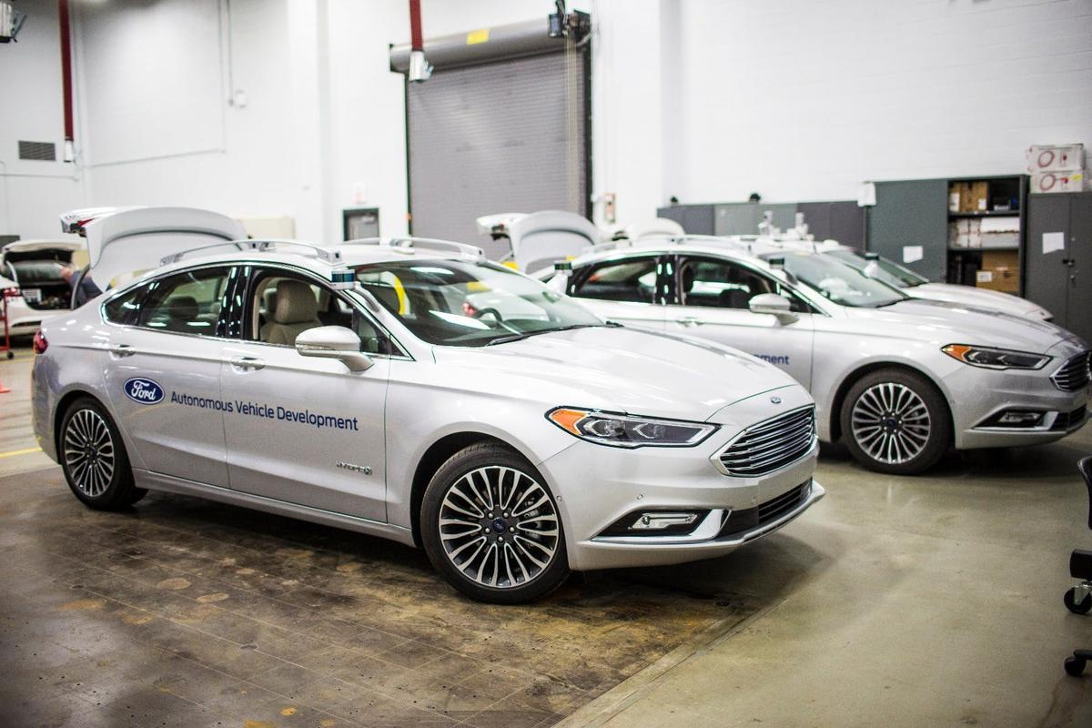 The new Ford Fusion self-driving prototype