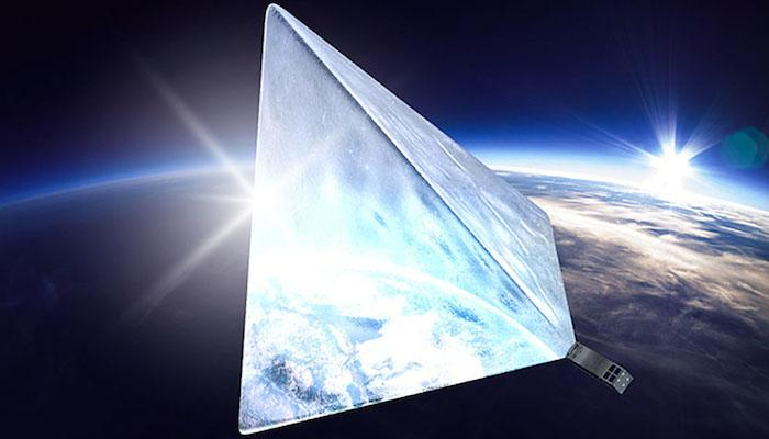 An artist's rendition of Mayak, aRussian CubeSat that may soonbecome one of thebrightest objects in the night sky