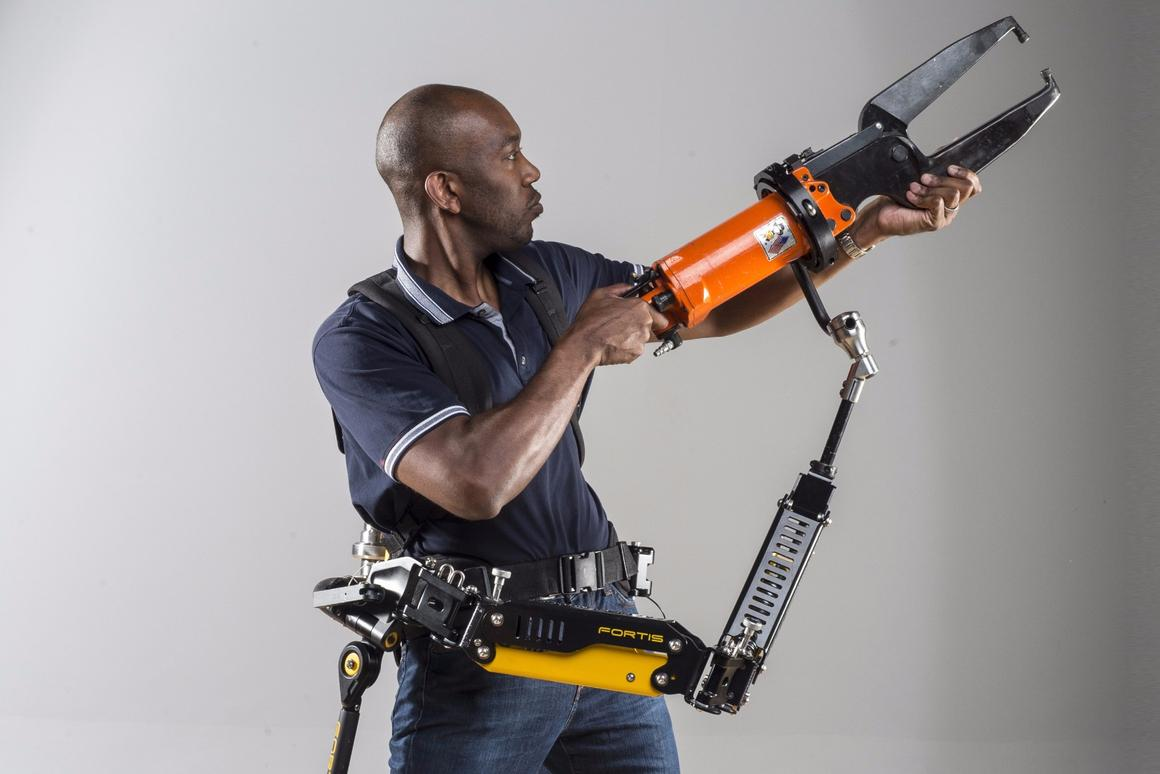 Lockheed Martin's Fortis Tool Arm, the key component of its industrial exoskeleton, is now available as a separate product