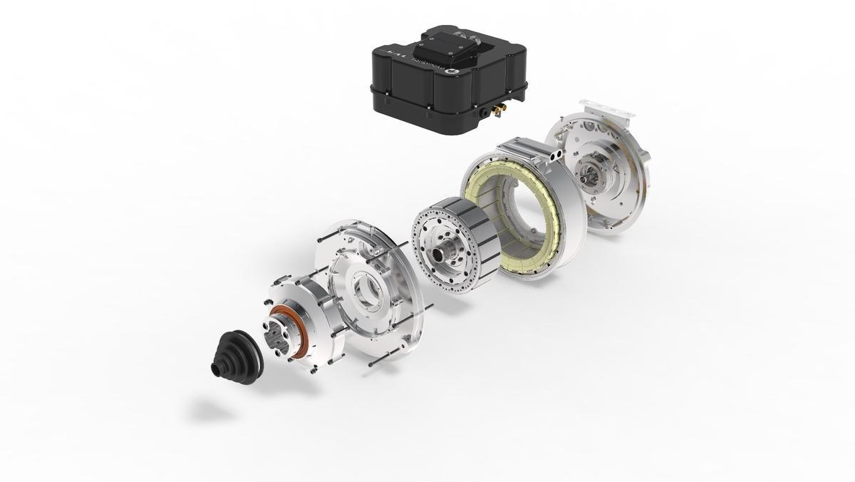Equipmake's spoke motor designexploded view