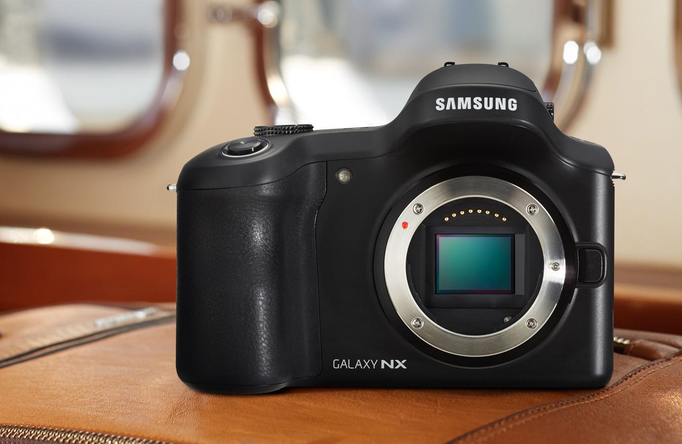 The Samsung Galaxy NX has a 20.3-megapixel APS-C format (23.5 x 15.7 mm) CMOS sensor