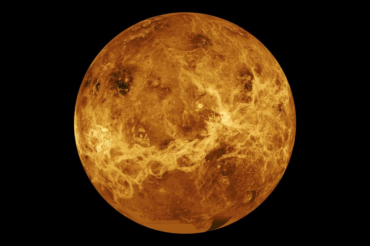 A global view of Venus, which has garnered more attention after phosphine gas was discovered in its atmosphere