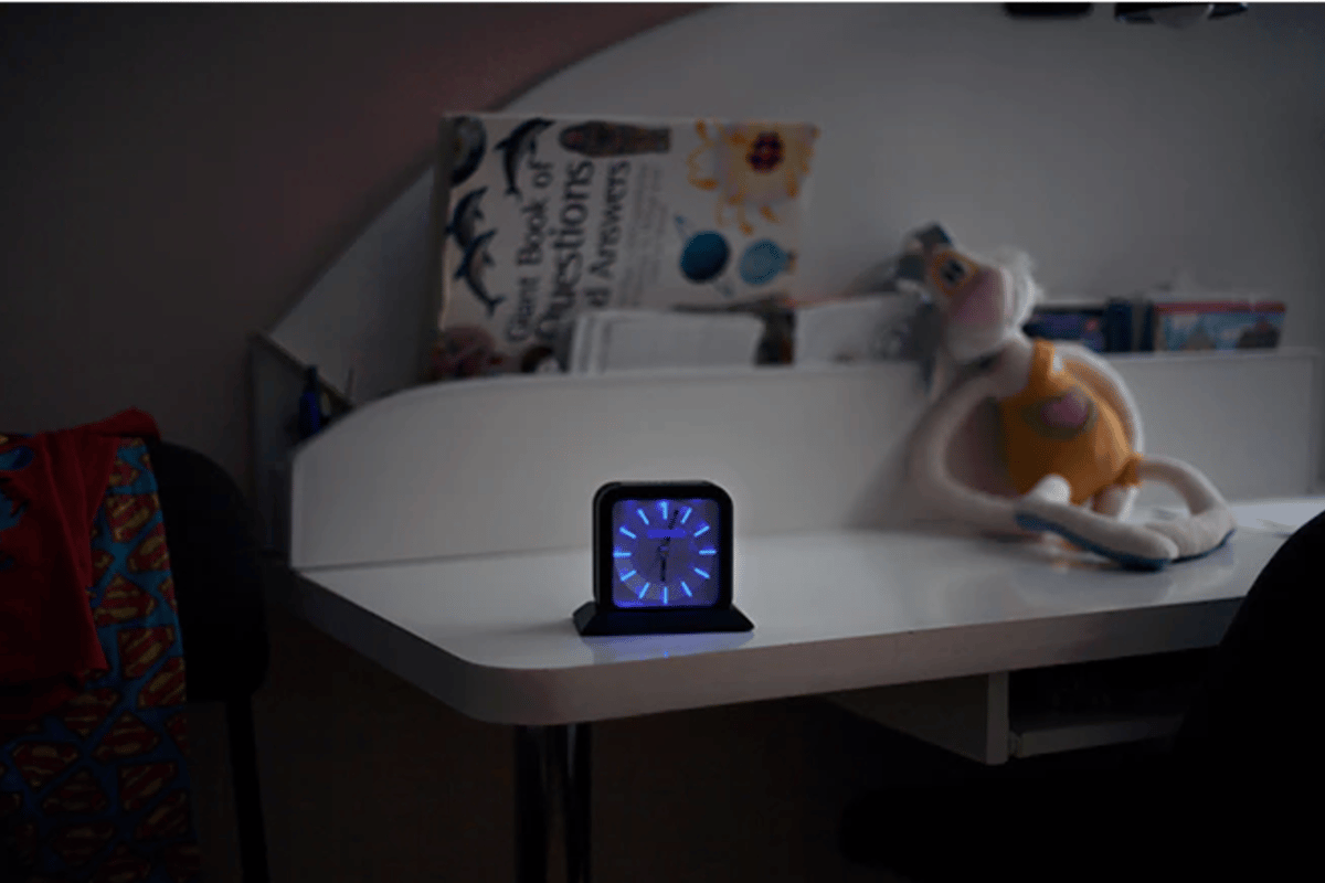 The Snoozle alarm clock is actually made up of two parts