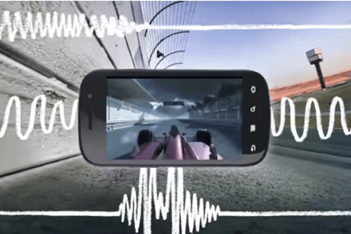 Through haptic feedback, Immersion can recreate the feeling of rain, a ball bouncing around on the screen, or even mimic how it feels to drive a car around the track