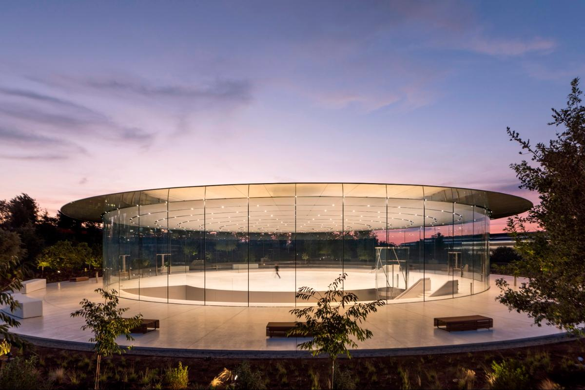 The Steve Jobs Theater Pavilion in Californiawas given the Award for Structural Artistry