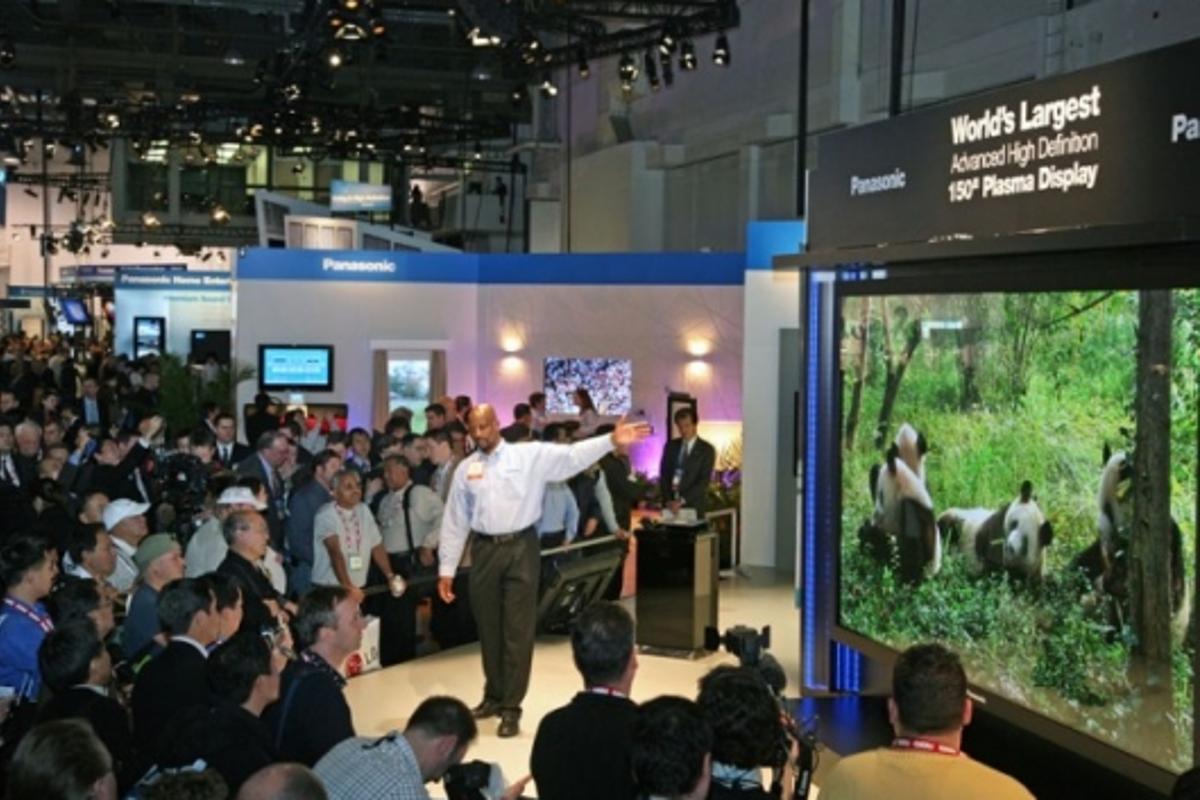 "Panasonic unveil the world's largest advanced HD 150"" plasma display"