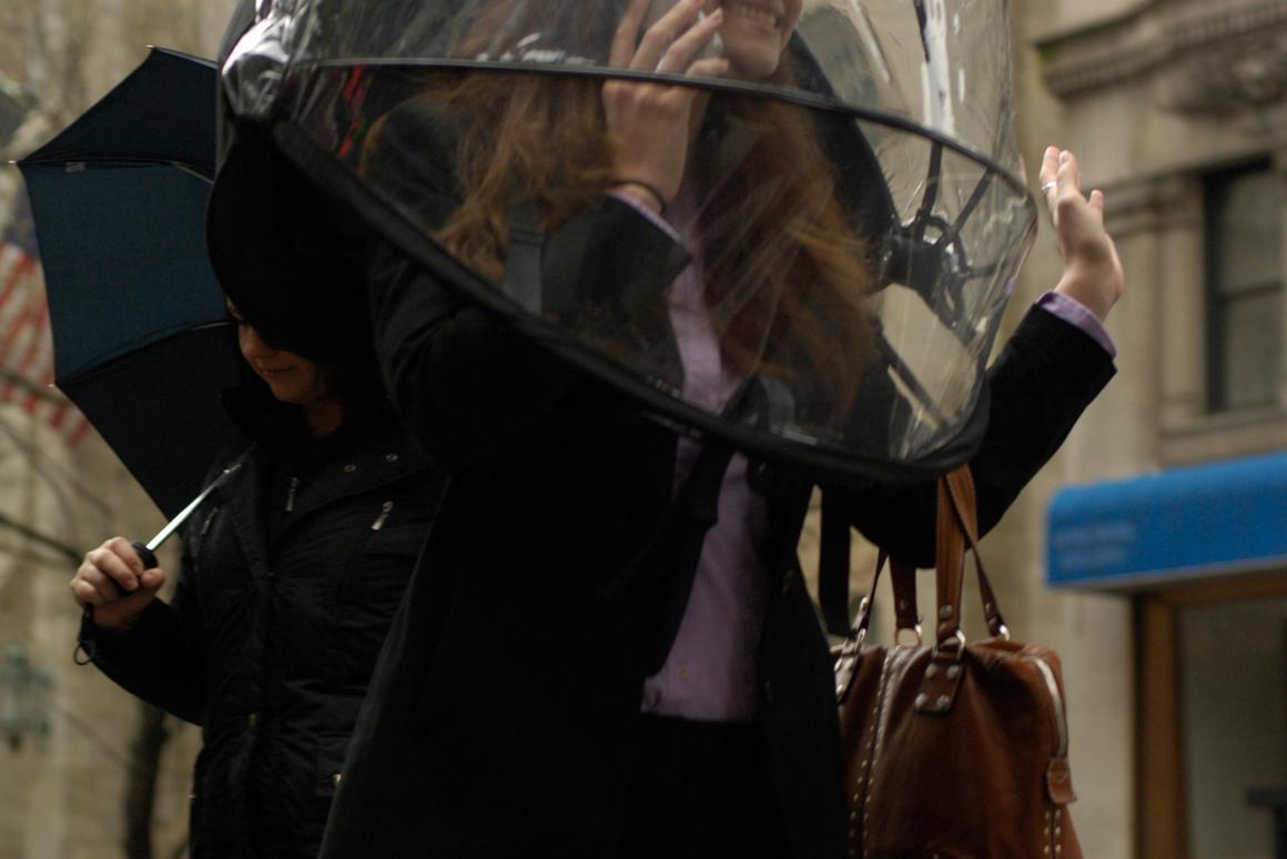 The Nubrella wearable umbrella