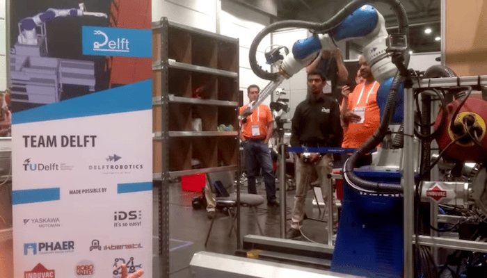 A team from the Netherlands has claimed victories in both events at the Amazon Picking Challenge, a competition designed to increase innovation in warehouse robotics