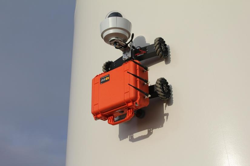 Helical Robotics' HR-MP20 wind turbine-inspecting robot