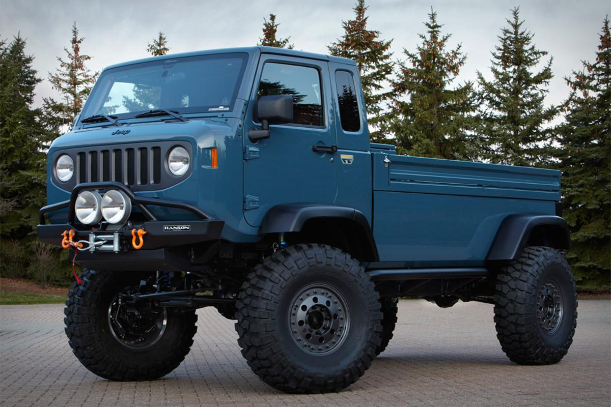 Jeep and Mopar's new Mighty FC concept vehicle is based on the classic Jeep Forward Control