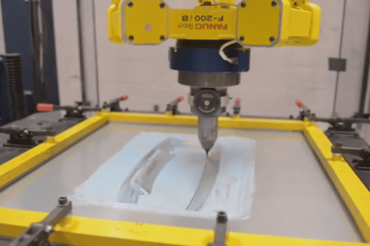 Ford Freeform Fabrication Technology produces sheet metal prototypes in hours instead of days or weeks