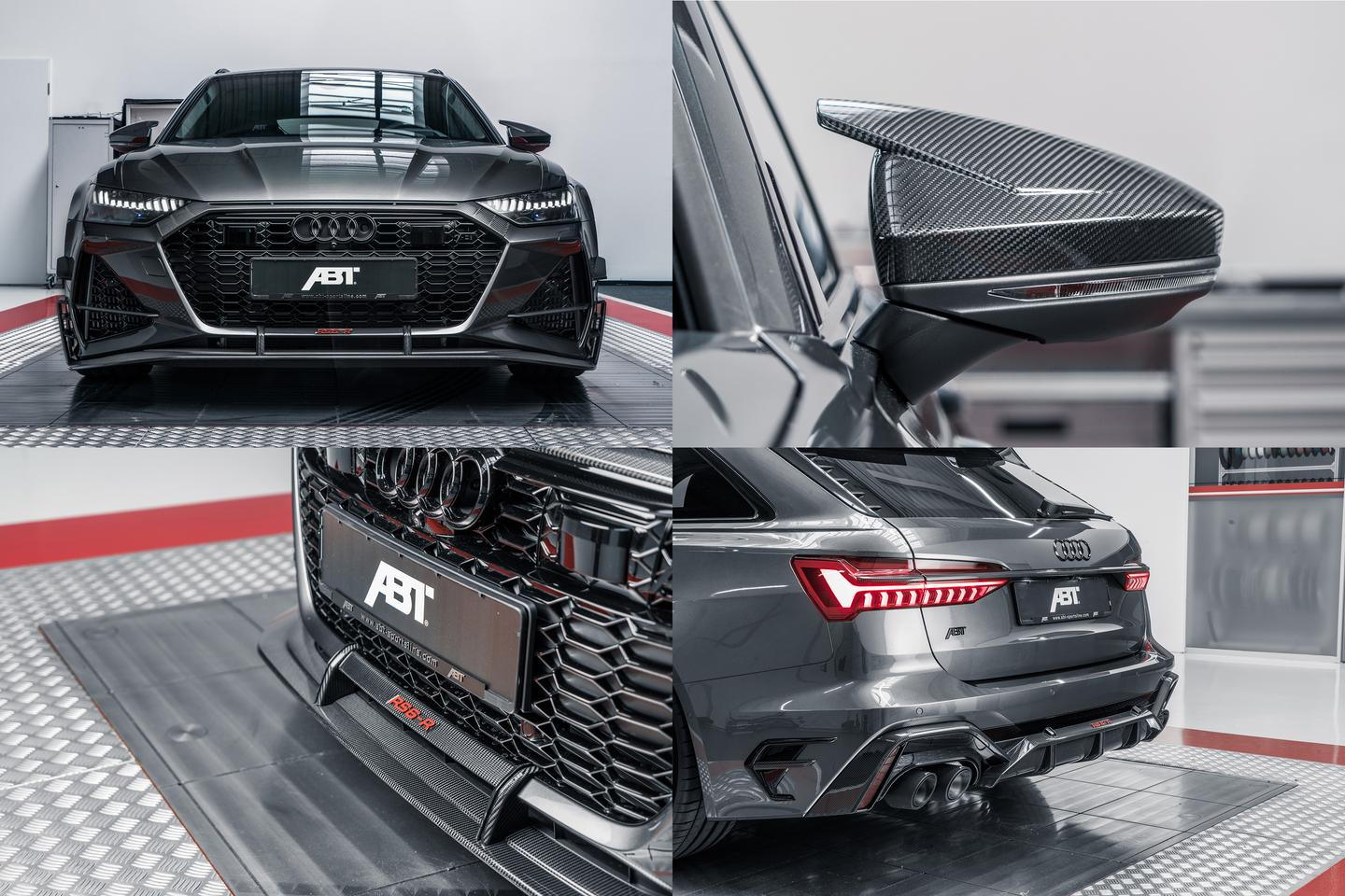 The Audi ABT RS6-R comes with a complete carbon fiber makeover of every external component
