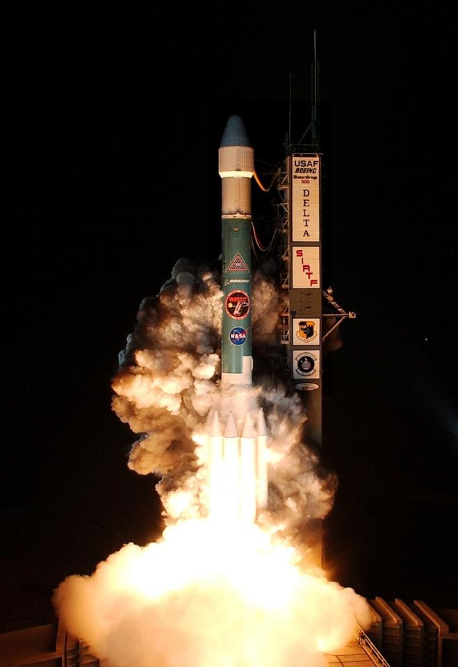The Spitzer Space Telescope launching from Cape Canaveral Air Force Station