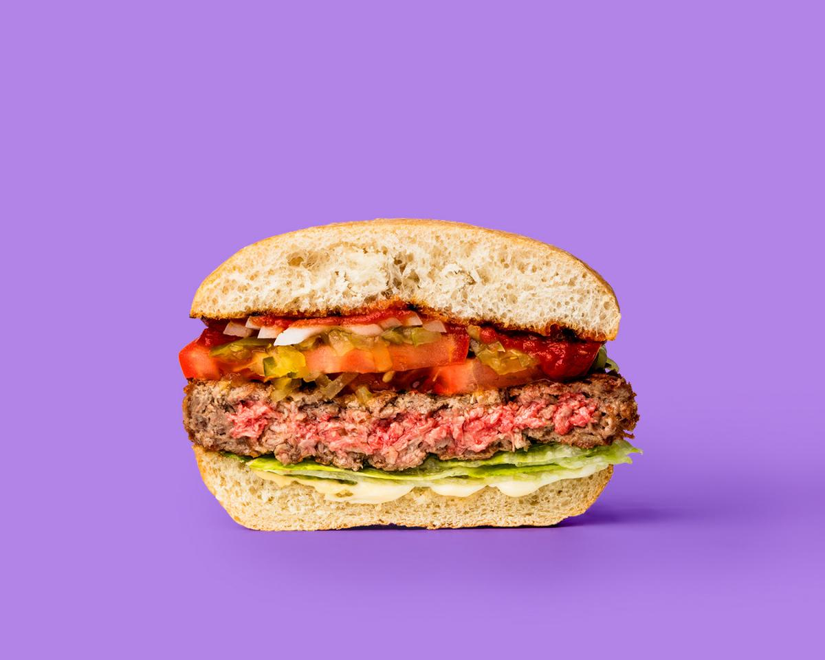 The Impossible Burger cooks like a regular beef burger