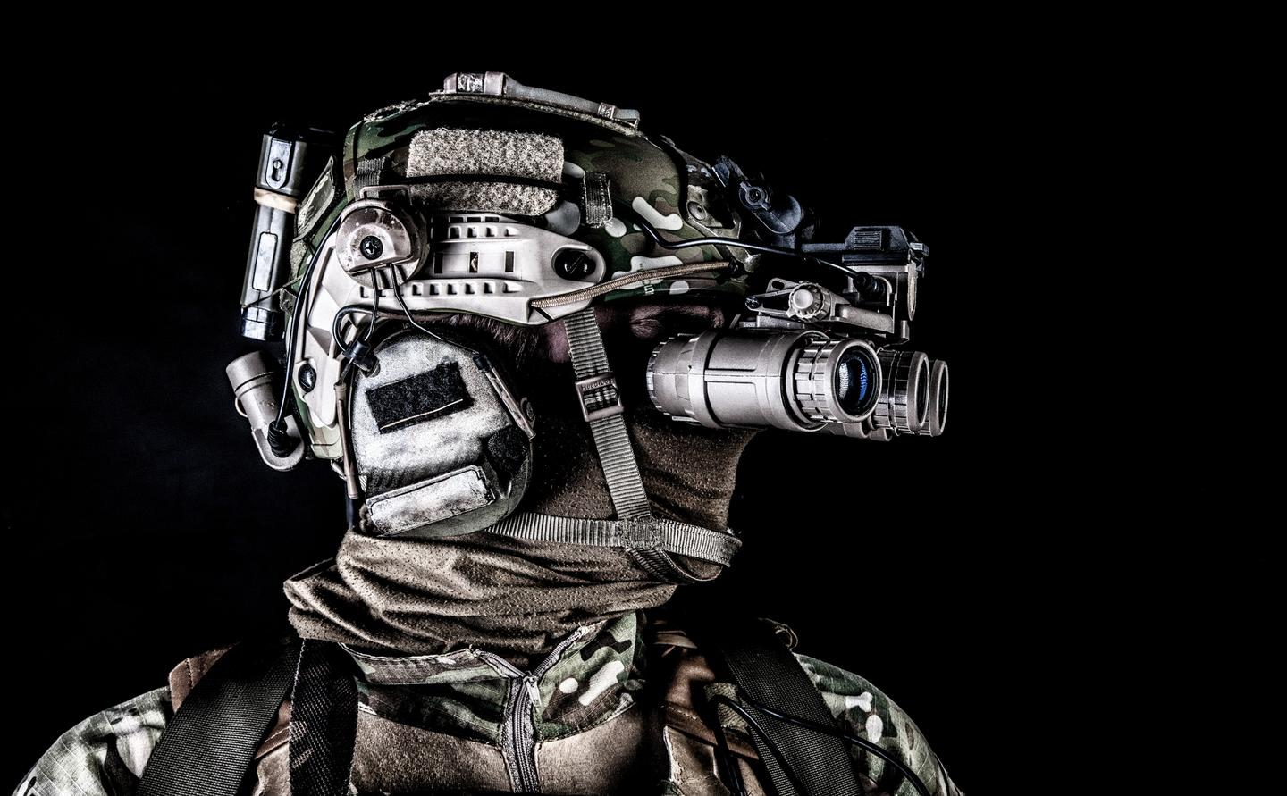 DARPA is launching a program to slim down night-vision eyewear from the bulky goggles in use today (pictured above)