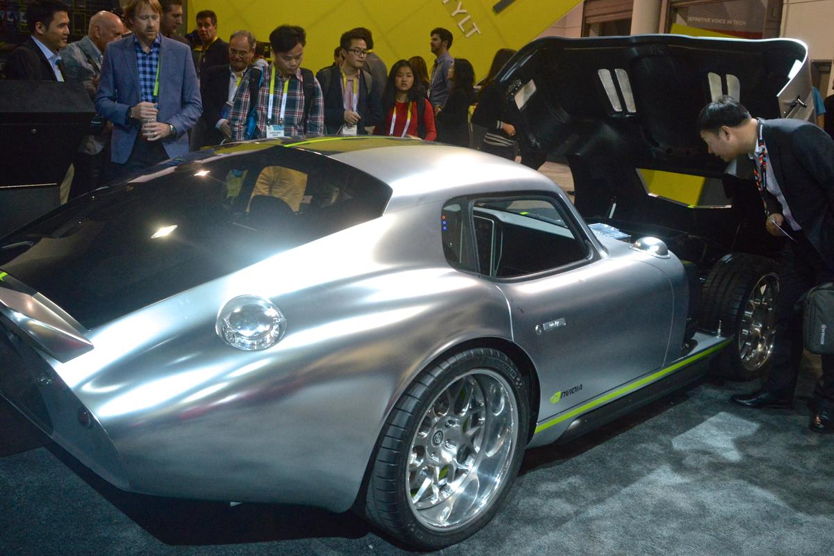 The Renovo Coupe at CES 2015 (Photo: C.C. Weiss/Gizmag)