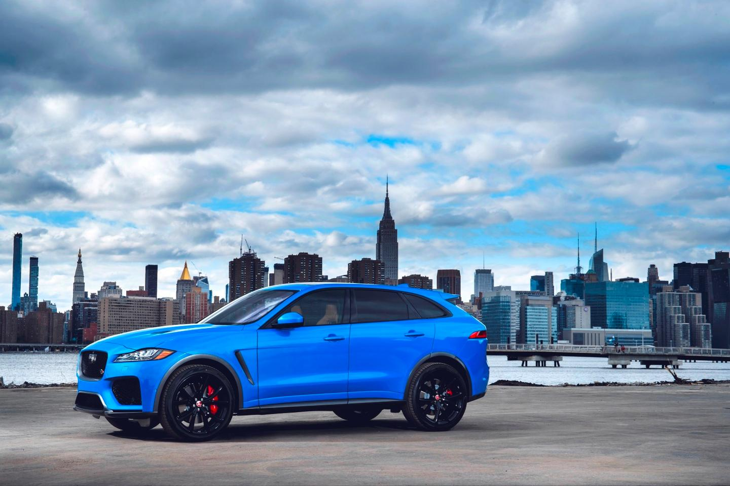 Jaguar has debuted the F-Pace SVR at the New York International Auto Show