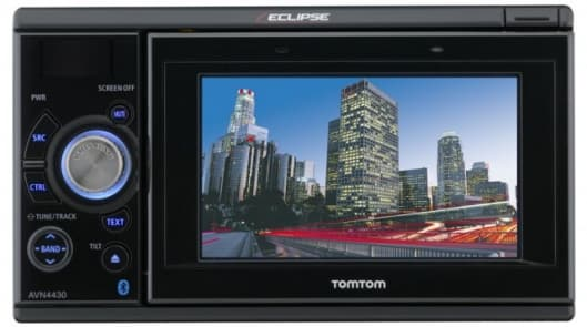 The Fujitsu AVN4430 car entertainment and navigation system