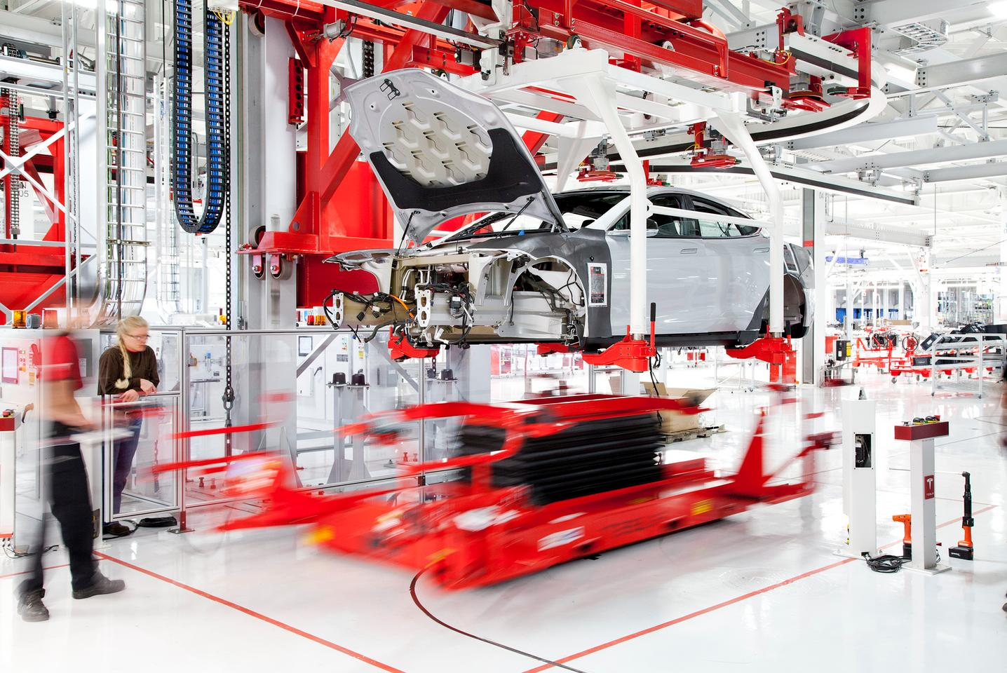 Automated swapping technology is identical to the system used in Tesla's factory