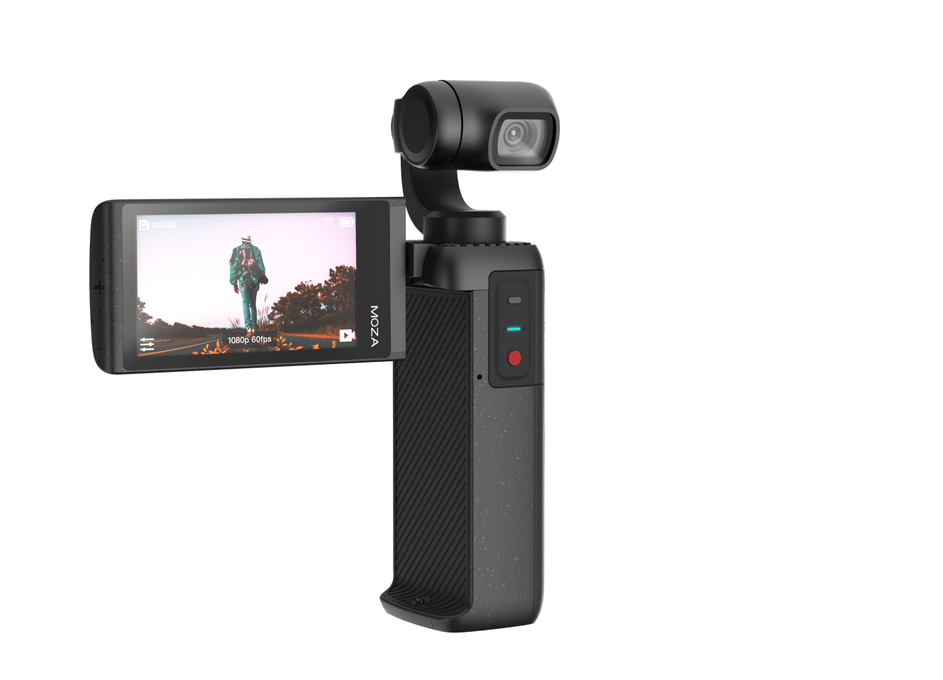MOIN CAMERA offers an elevated filming experience with built-in high-quality stereo microphones