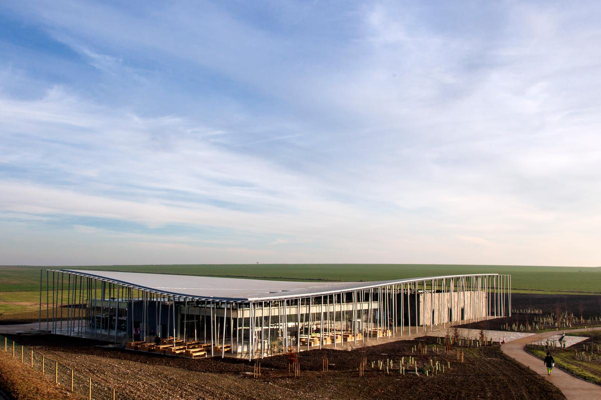 The new £27-million Stonehenge Visitor Centre that opened this week (Photo: Peter Cook)