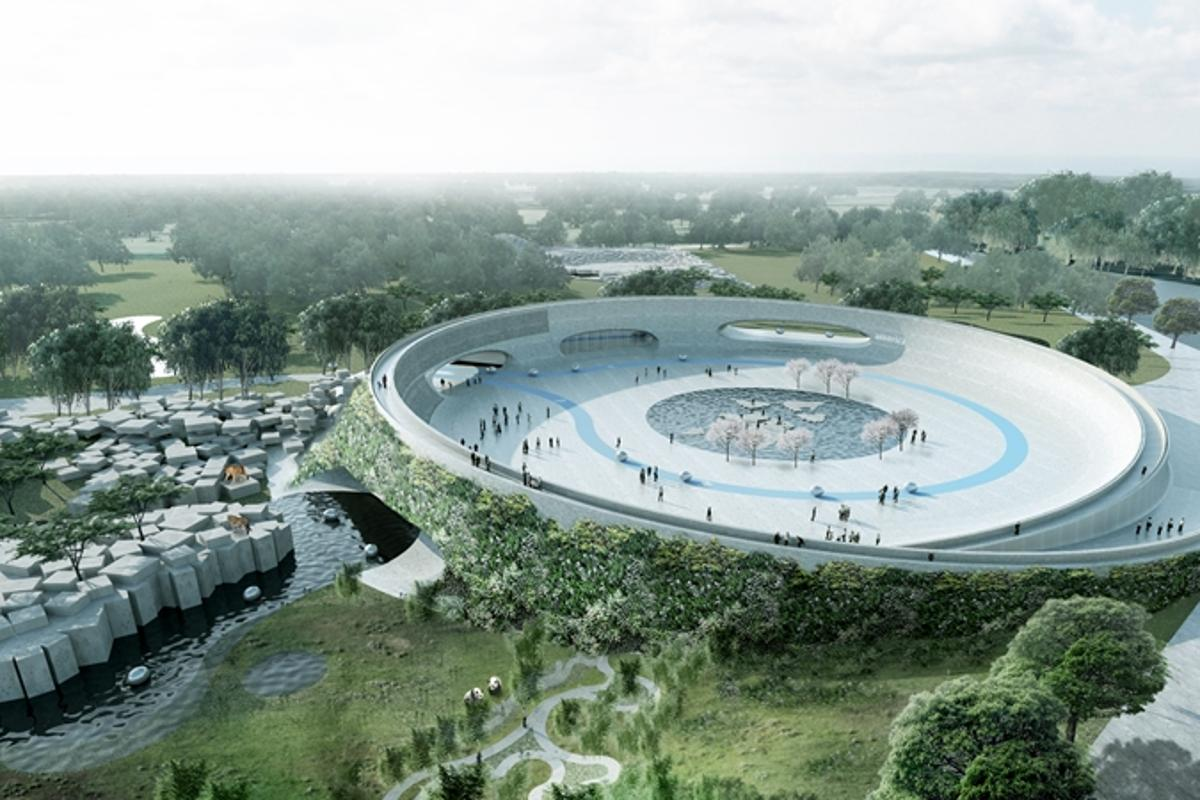 Zootopia is a newly designed zoo that aims to provide the animals with an open habitat without visible barriers between them and the visitors (Image: Big Architects)