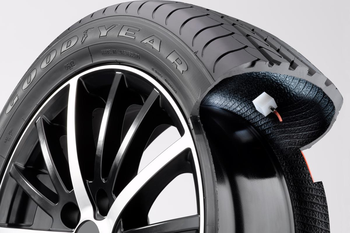 Goodyear's AMT system keeps tires inflated to the optimum air pressure