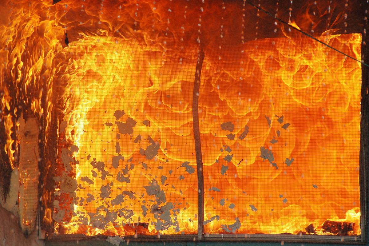 When a flashover occurs, all of the flammable materials within an indoor space may ignite within a few seconds