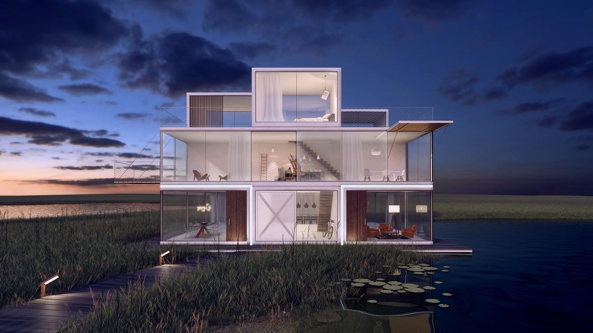 Tetris House was designed by Janjaap Ruijssenaars of Universe Architecture