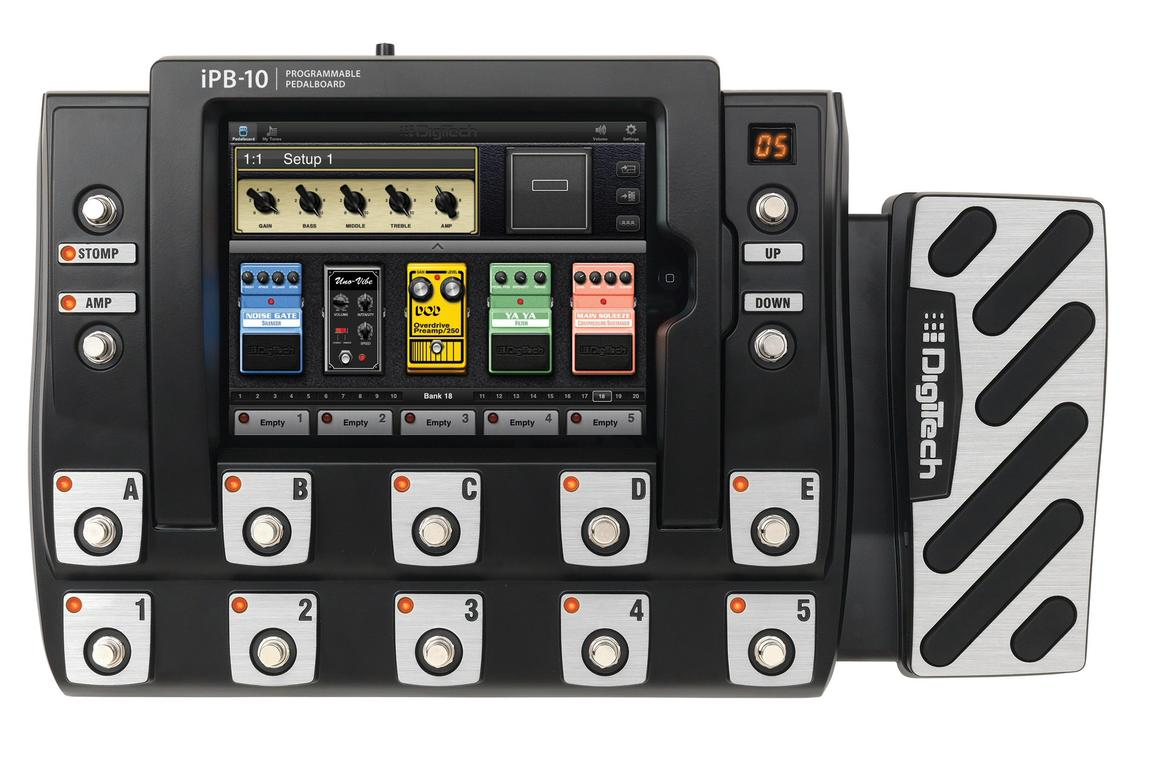 DigiTech has announced the iPB-10 Programmable Pedalboard - a multi-effects unit which uses the power of a docked iPad to design numerous effects chains and amp/cab combinations