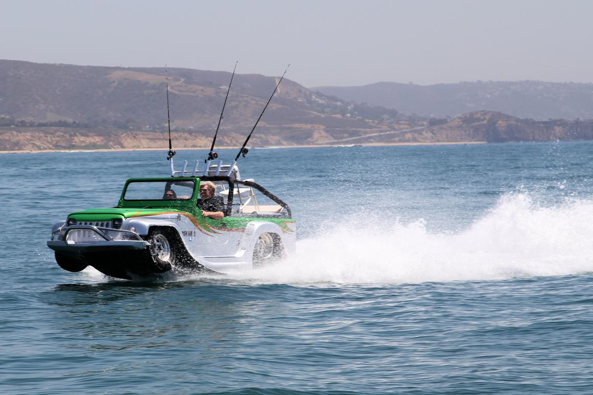 WaterCar's Panther is as at home on the water as it is on the land (Photo: WaterCar, Inc.)