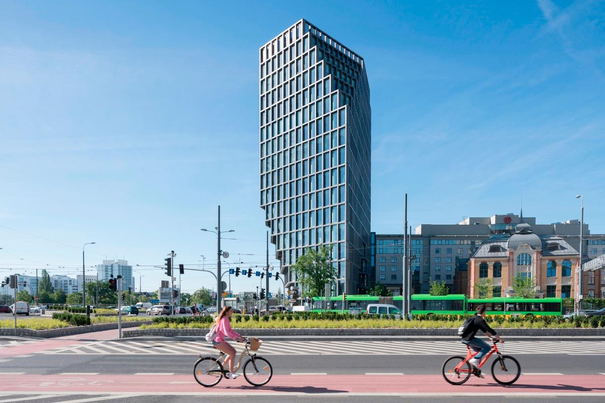 According to MVRDV, the tower's form was directly influenced by volume and height restrictions on the site