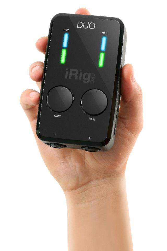 IK Multimedia's new palm-friendly mobile recording interface, the iRig Pro Duo