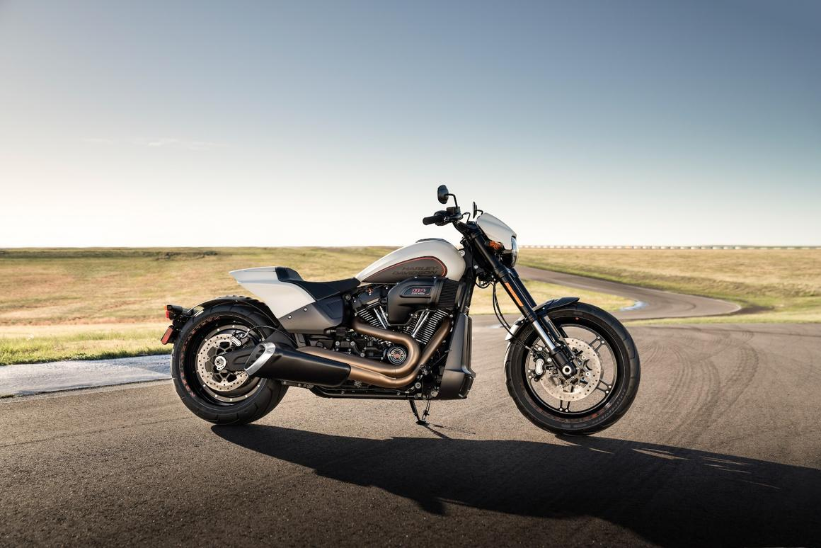 Harley's tough 2019 FXDR 114 prepares to hit the … racetrack?