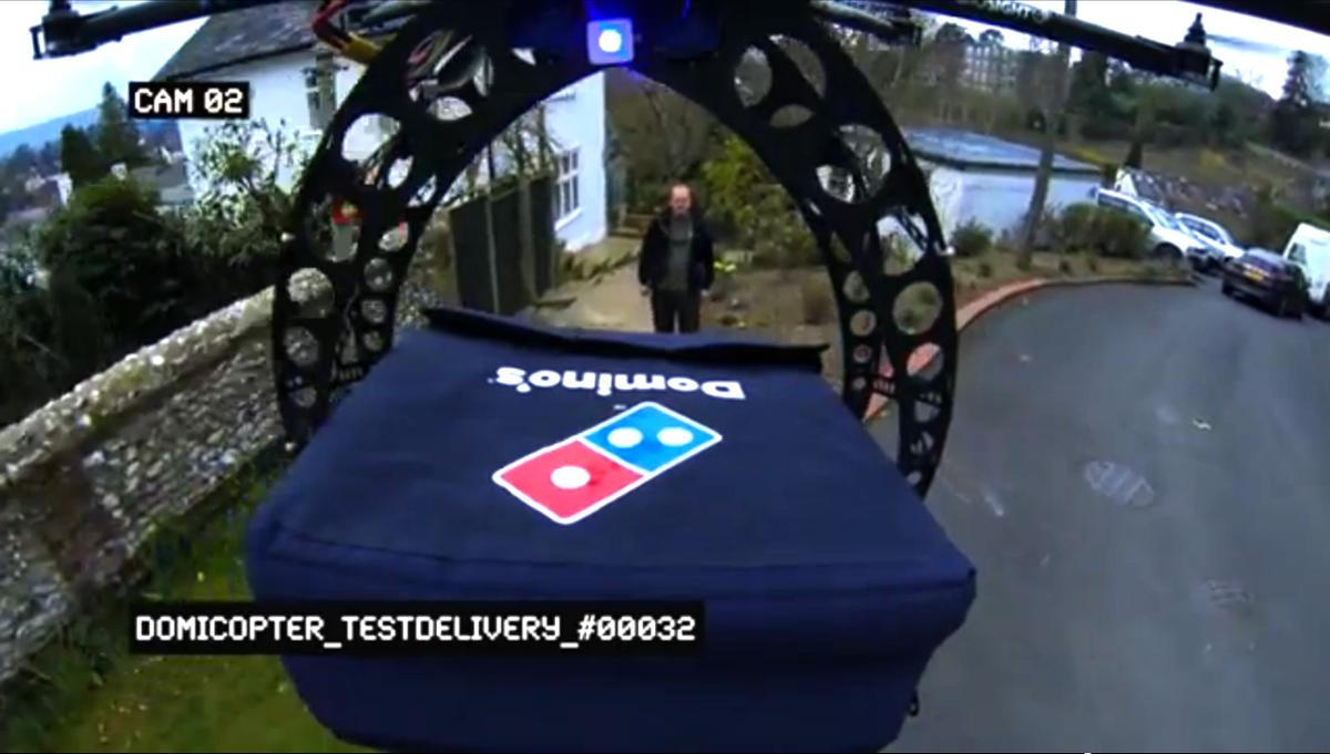 Domino's UK's DomiCopter will not likely see urban action any time soon, but gives a taste of a possible pizza delivery future