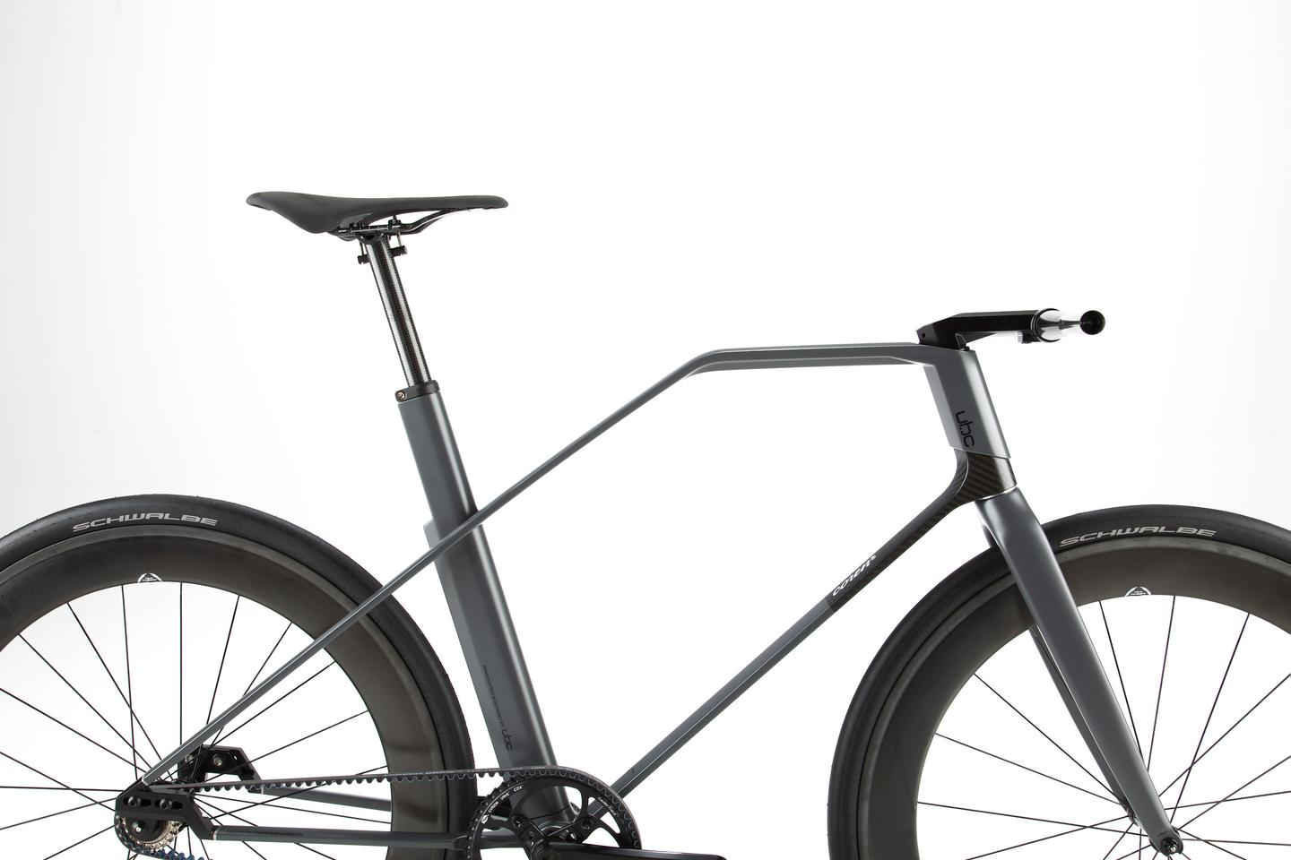 The UBC coren's carbon fiber is shaped into a unique frame