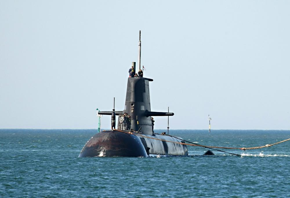 A nuclear submarine could replace Austrlia's aging diesel fleet, such as HMAS Collins (Image: Royal Australian Navy)