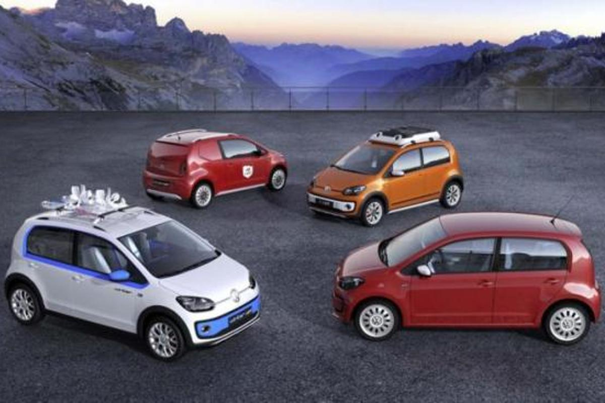 A quartet of new Volkswagen Up! concepts is headed for Geneva