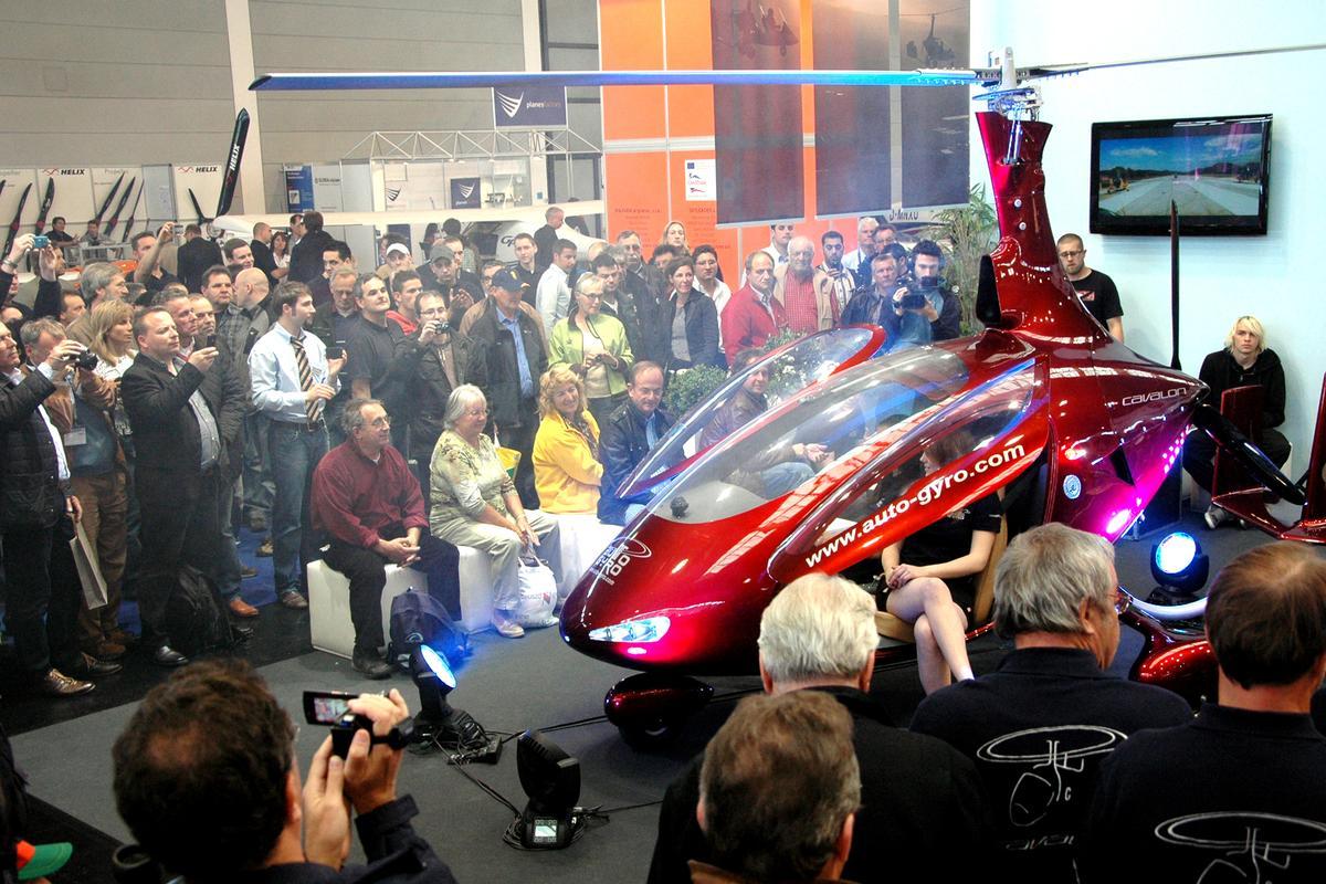 Auto-gyro's Cavalon at Aero Friedrichshafen this week