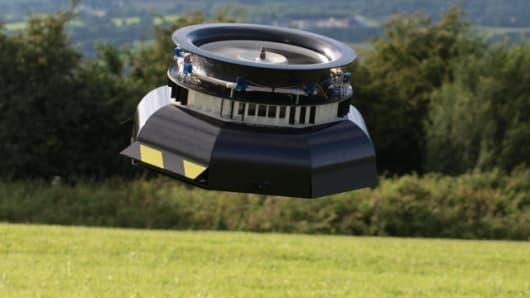 An AESIR UAV takes flight