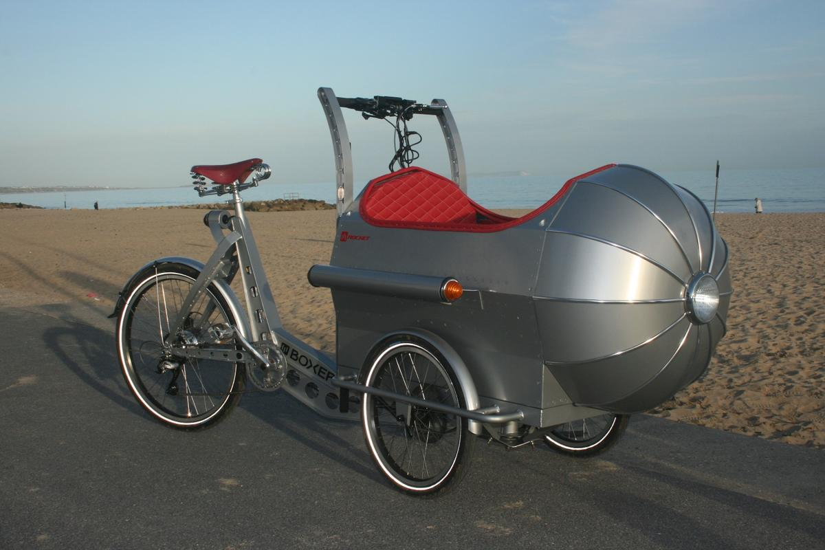 The Boxer Rocket brings a new look to the cycle child carrier