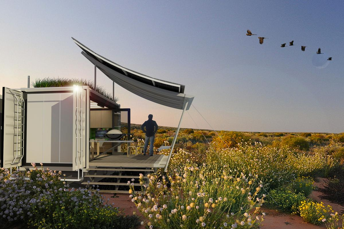 The G-pod Dwell shipping container-based home (Image: G-pod)