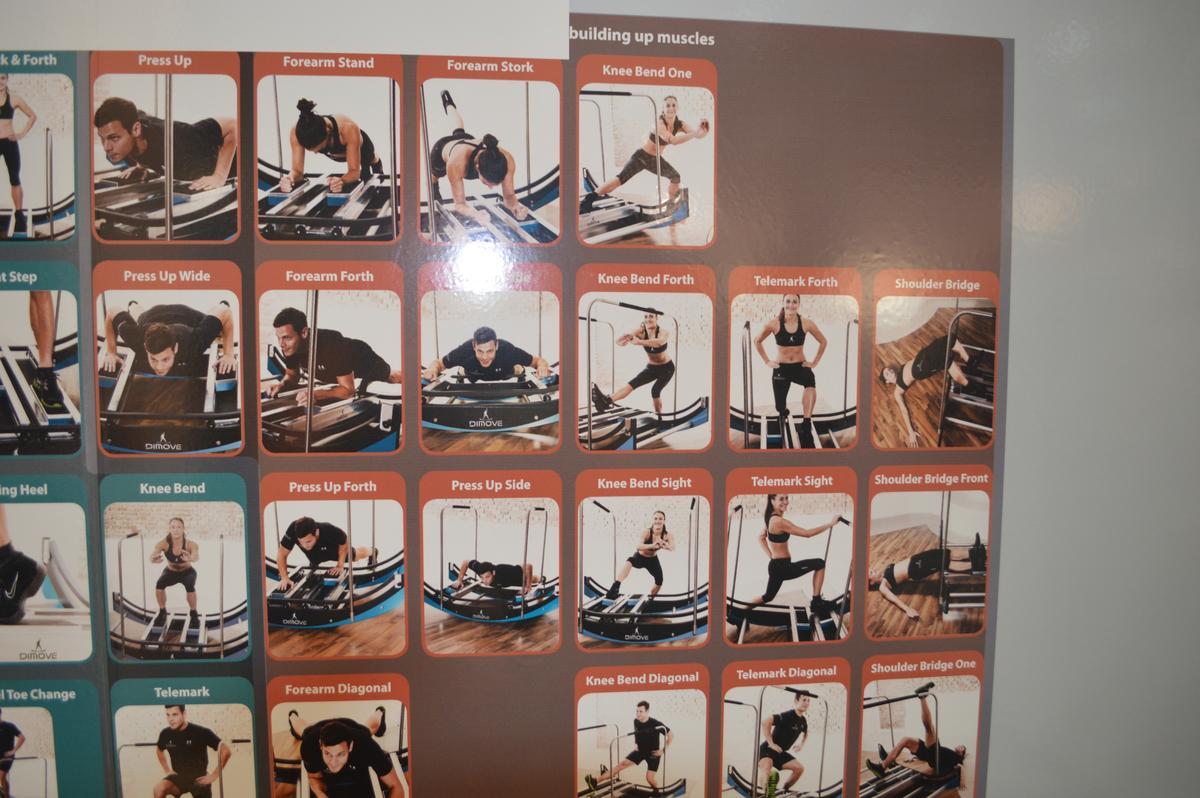 DIMOVE's display of WAVEpro exercises