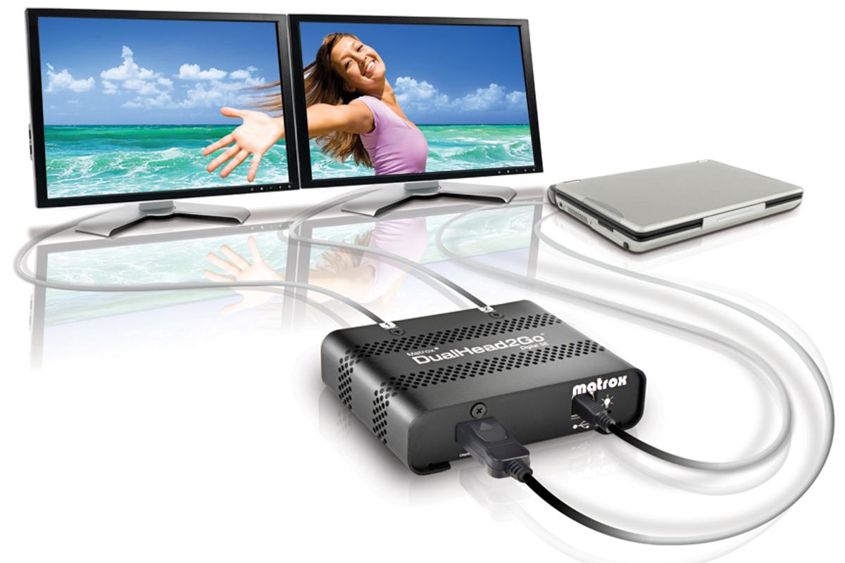 Matrox has unveiled its DualHead2Go Digital SE (pictured) and DualHead2Go Digital ME external multi-display adapters