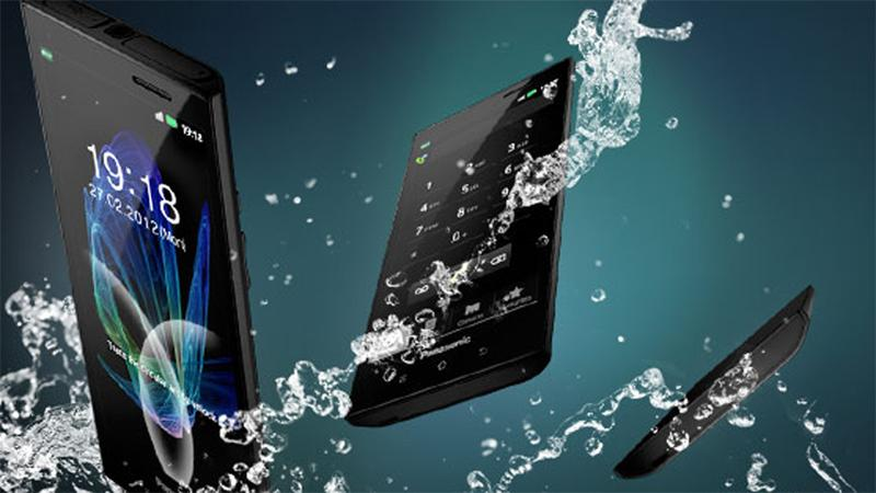 Panasonic Europe's ELUGA phone is waterproof and dustproof to international standard IP57 qualifications